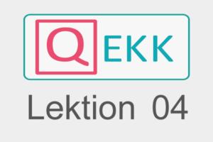QEKK | Kursleitung 04 | Hospitation